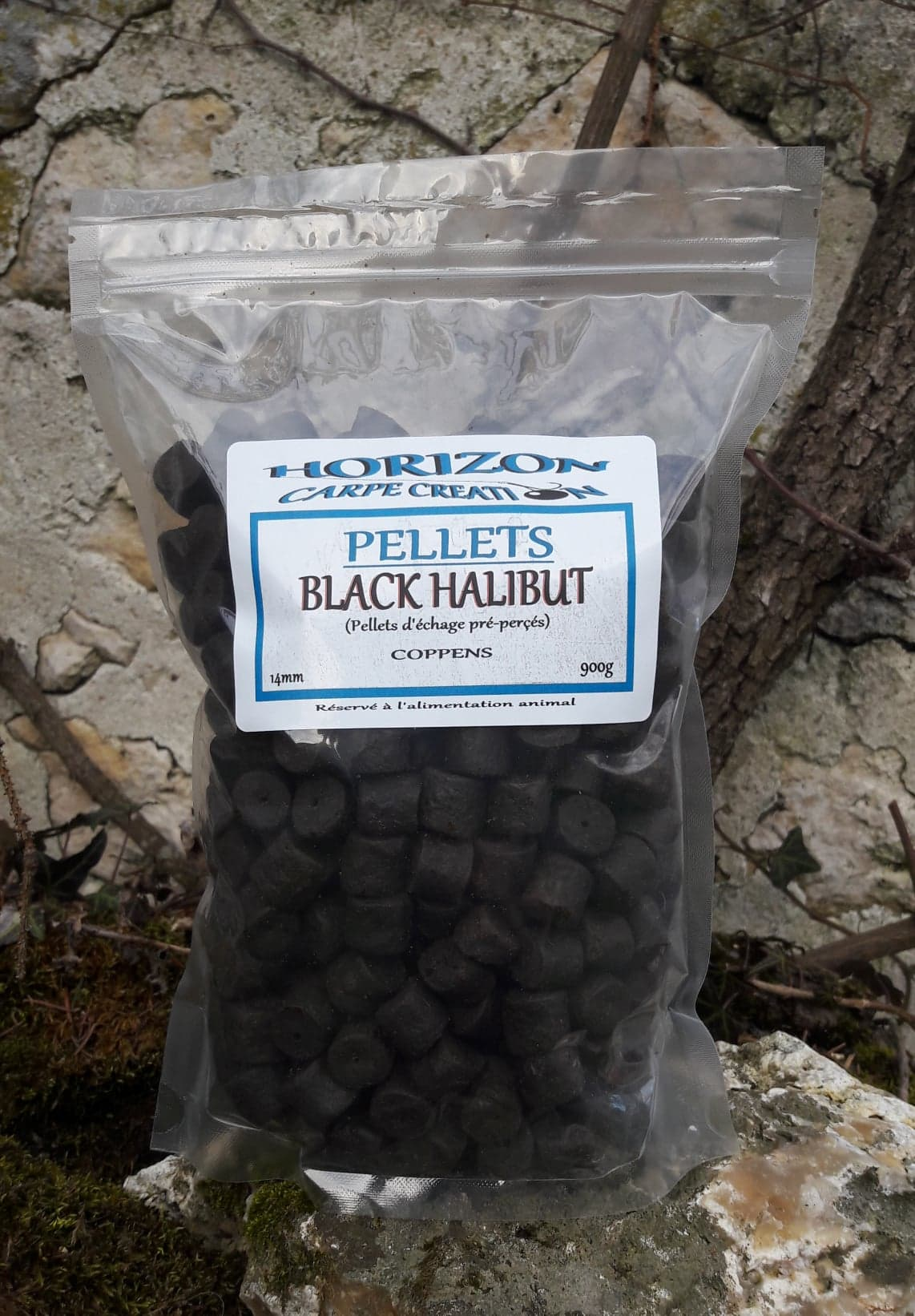 Pellet black halibut